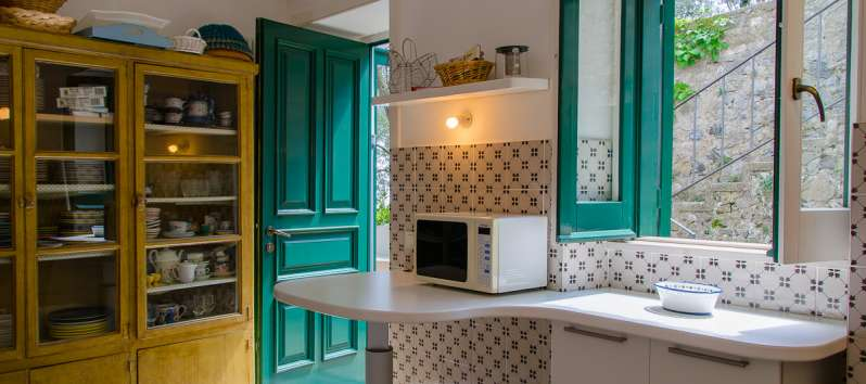 kitchen of the villa in Ravello