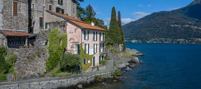 terrace of the villa on Lake Como in Menaggio