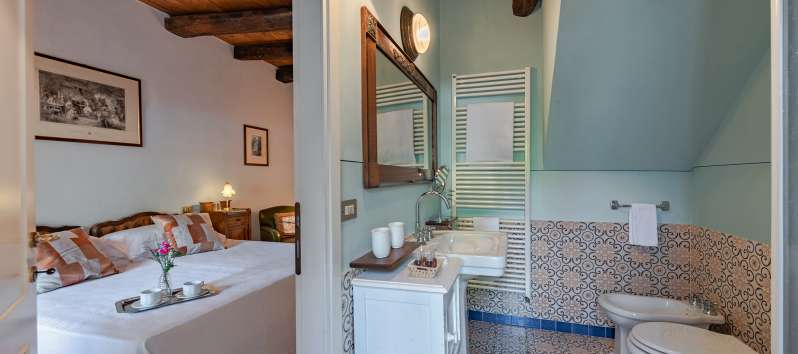 double bedroom in the villa in Menaggio