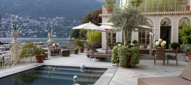 Villa Silva swimming pool overlooking Lake Como.