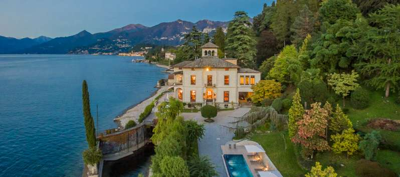 villa with swimming pool on Lake Como in Bellagio