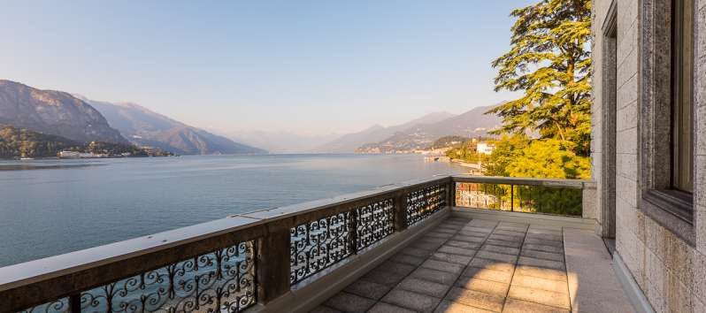terrace of the villa on Lake Como in Bellagio