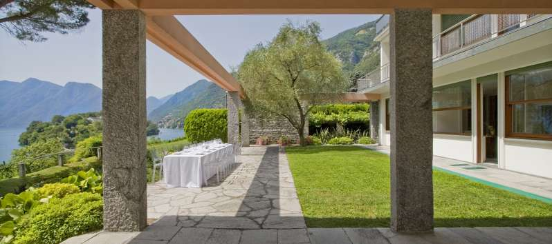 garden of the villa on Lake Como