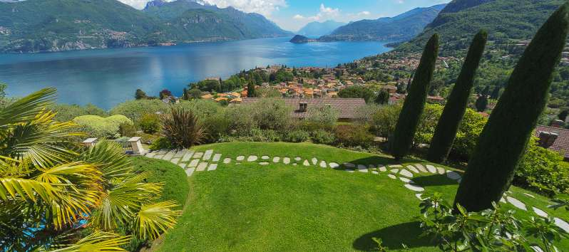 view from the villa on Lake Como