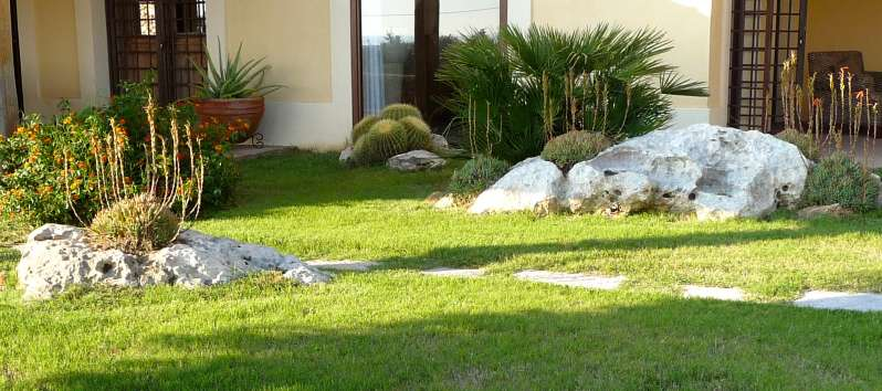Villa Abir rocks, cactus and Mediterranean vegetation in the garden
