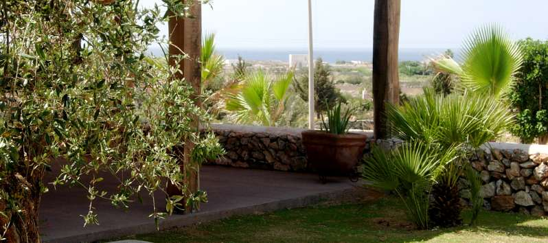 Villa Abir view to the sea from the veranda