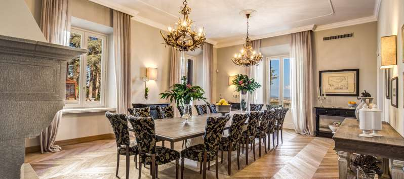 Large formal style dining room