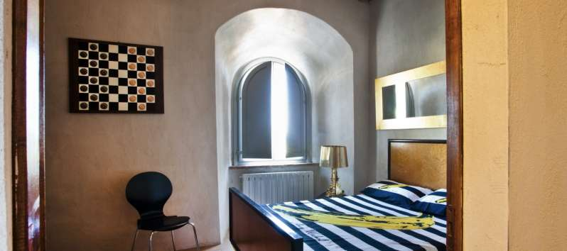 bedroom in the villa of Perugia
