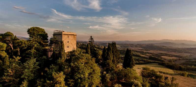 view from the villa of Perugia