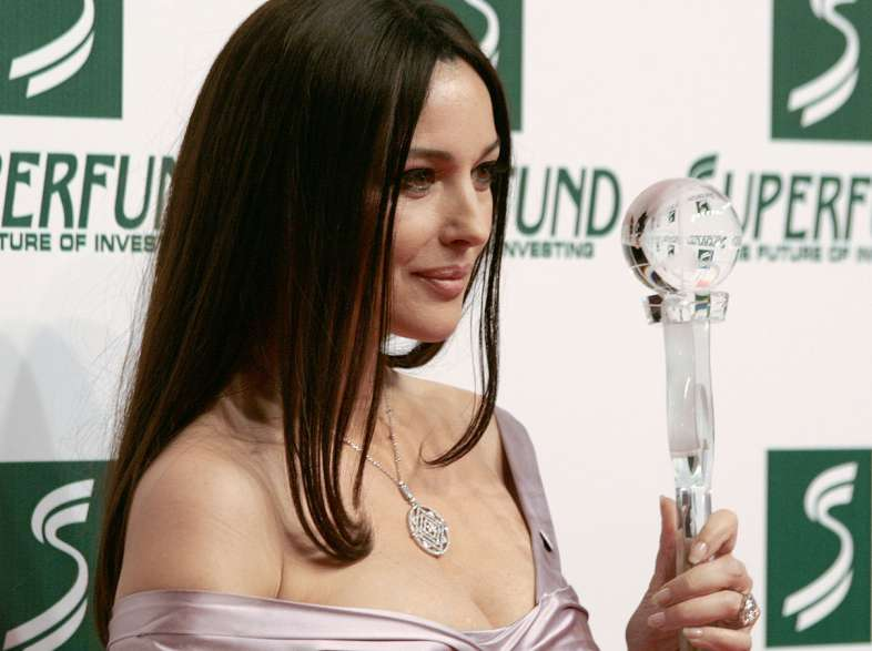 Italy: Monica Bellucci in Taormina for the Silver Ribbon Awards