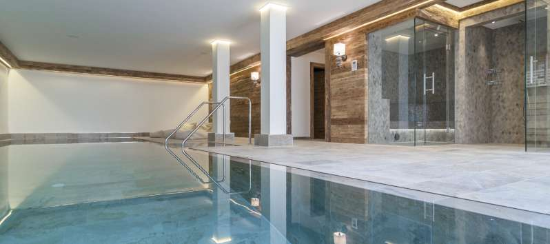 indoor pool in the chalet in Hahnenkamm