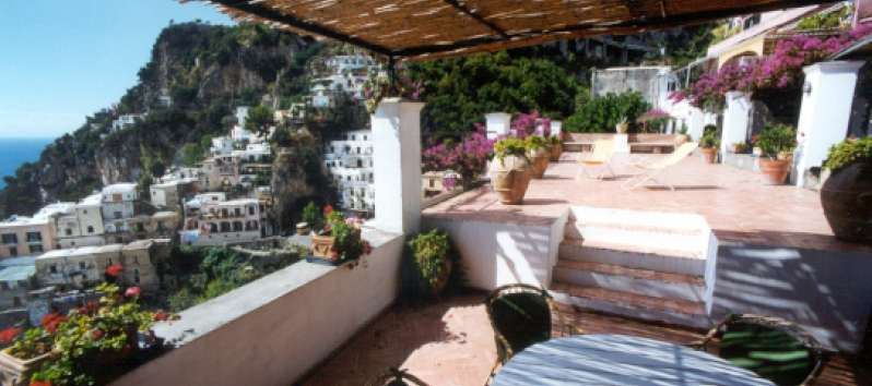 terrace of the apartment on the Amalfi Coast