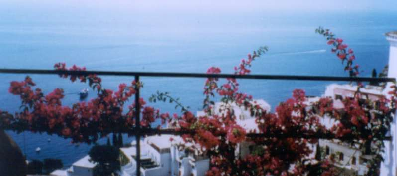 sea ​​view from the terrace of the apartment on the Amalfi Coast