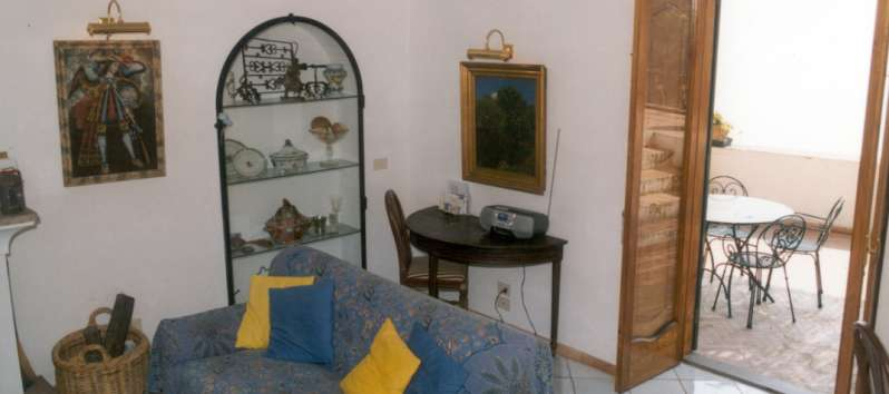 living room of the apartment on the Amalfi Coast