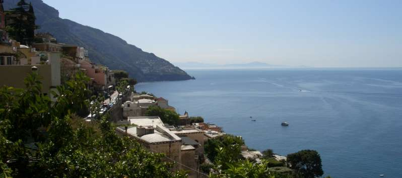 view from the apartment on the Amalfi Coast