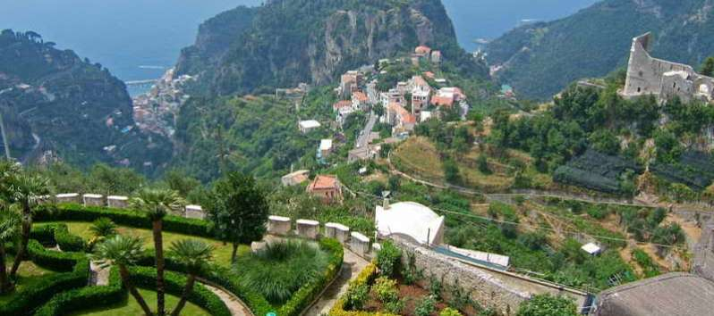 view from the villa on the Amalfi Coast