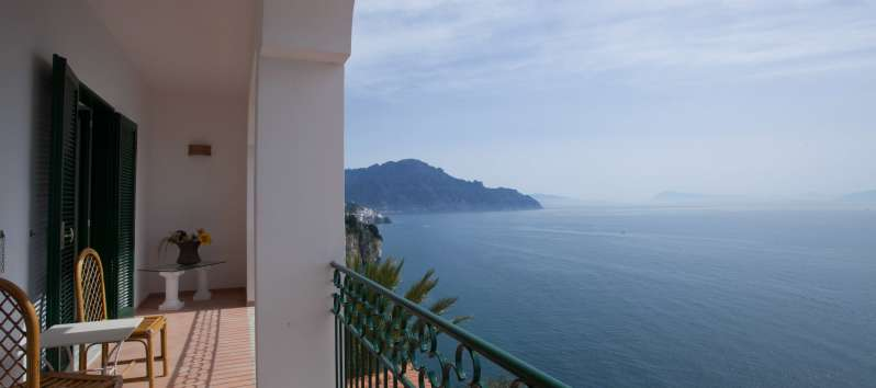 sea ​​view from the terrace of the villa on the Amalfi Coast
