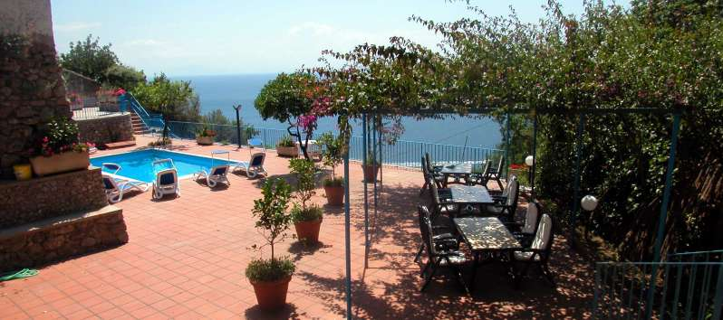 villa with pool and sea view in Amalfi