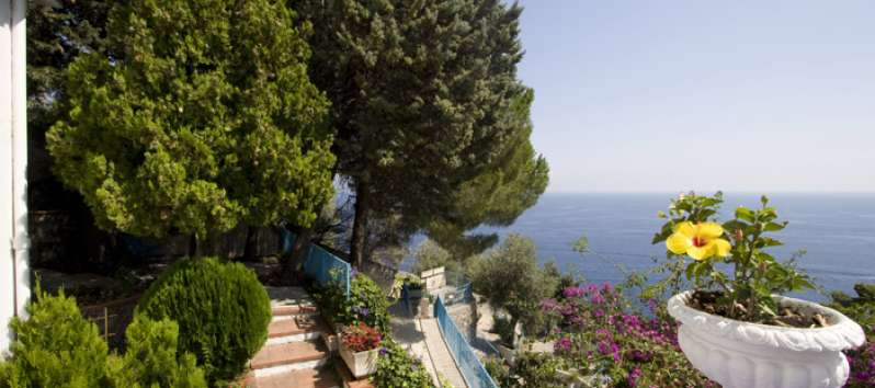 sea ​​view from the villa to Amalfi