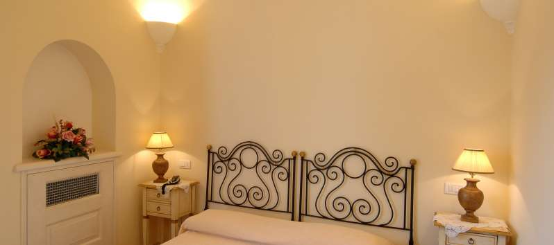 double bedroom in the villa on the Amalfi Coast