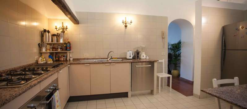 kitchen of the villa with swimming pool on the Amalfi Coast