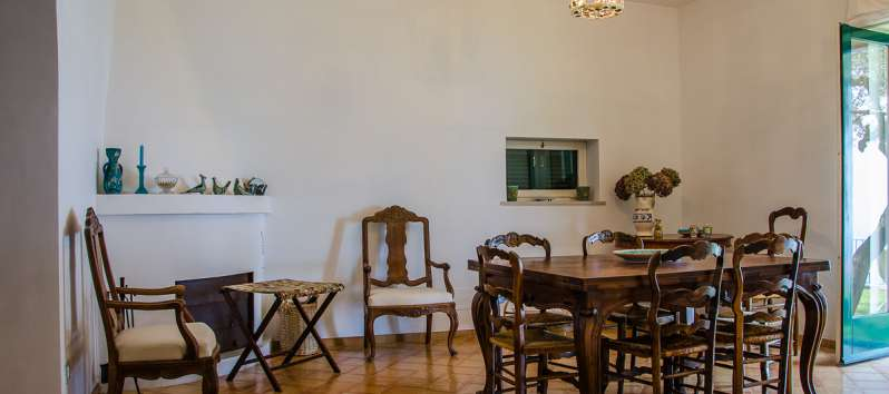 dining room of the villa with garden in Ravello