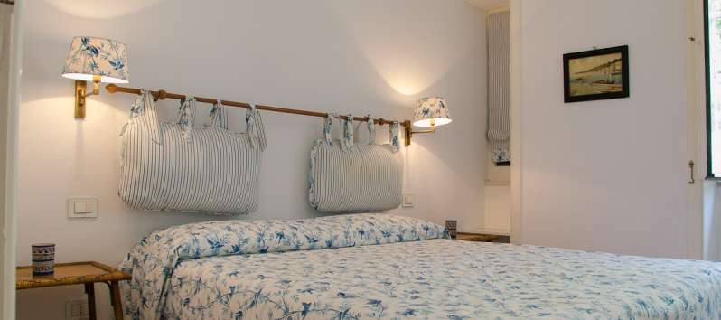 double bedroom in the villa in Ravello