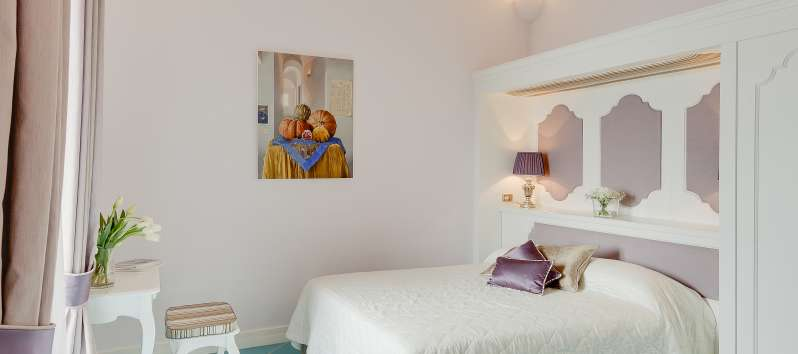 double bedroom in the villa in Praiano