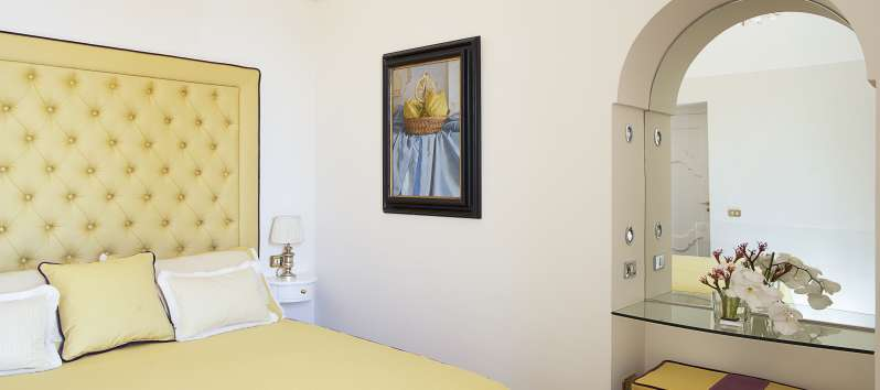 bedroom in the villa in Praiano