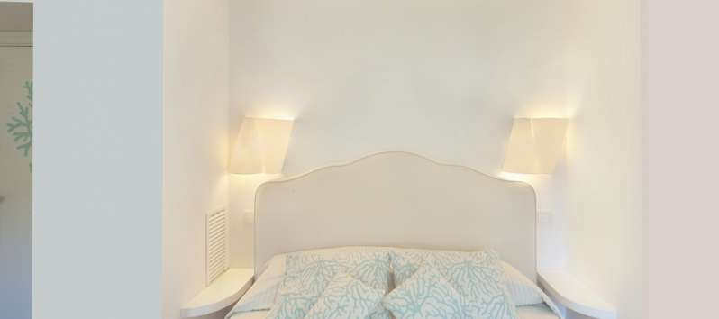 double bedroom in the villa with pool in Sorrento