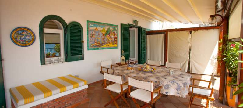 double room of the villa in Amalfi