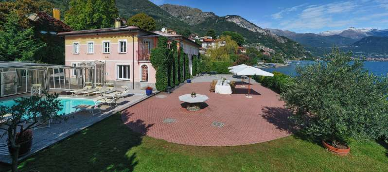 pool of the villa on Lake Como in Menaggio