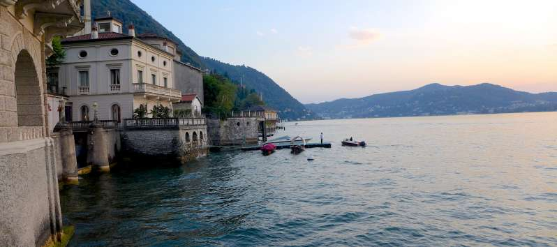 view from the villa on Lake Como to Blevio