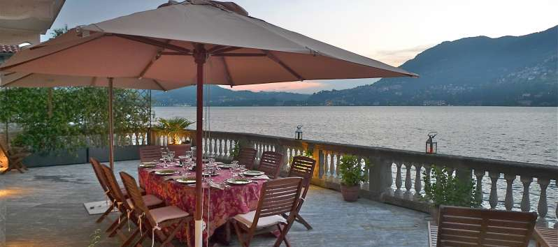 terrace overlooking the lake in Blevio