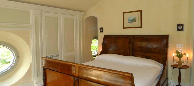 double bedroom in the villa in Blevio