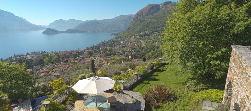 view of the lake from the villa on Lake Como