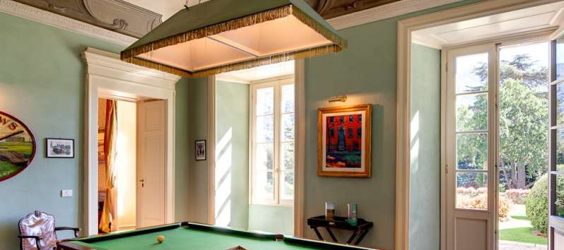 Villa Rubin billiard room