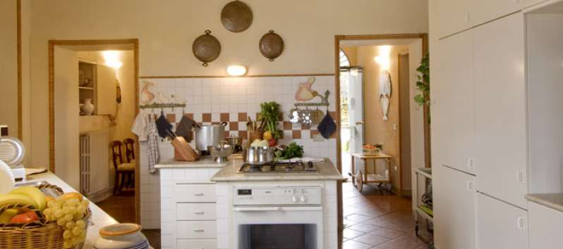 kitchen of the villa in Bornato Franciacorta