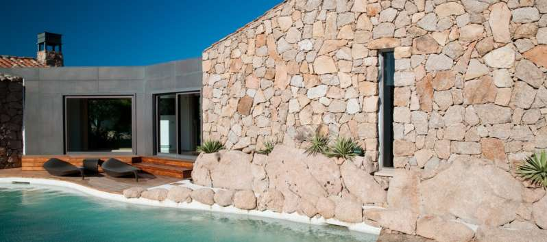 Stone Villa's flow-through swimming pool