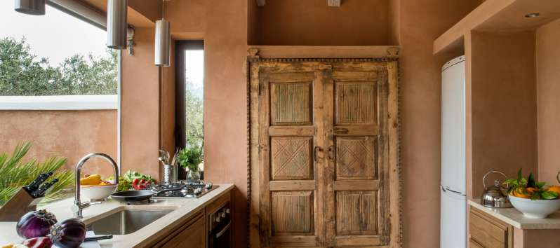 kitchen of the villa with swimming pool in Sicily