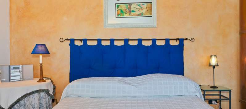 double room of the villa with pool of Castellammare del Golfo