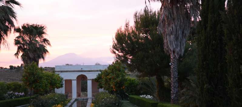 view from the typical villa masseria in Sicily