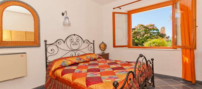 double bedroom in the villa with swimming pool in Trapani