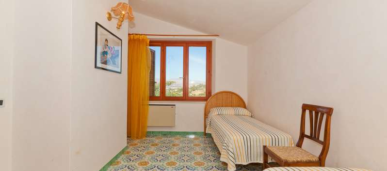 bedroom in the villa with pool in Trapani