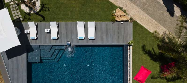 pool view from above