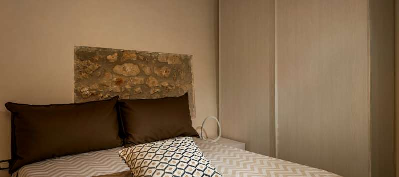 double bedroom in the villa with pool in Scopello