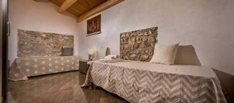 bedroom in the villa with pool in Scopello