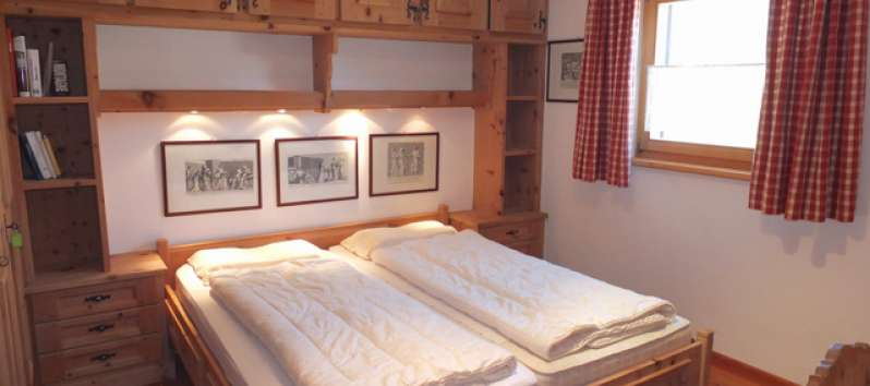 double bedroom in the apartment in Saint Moritz