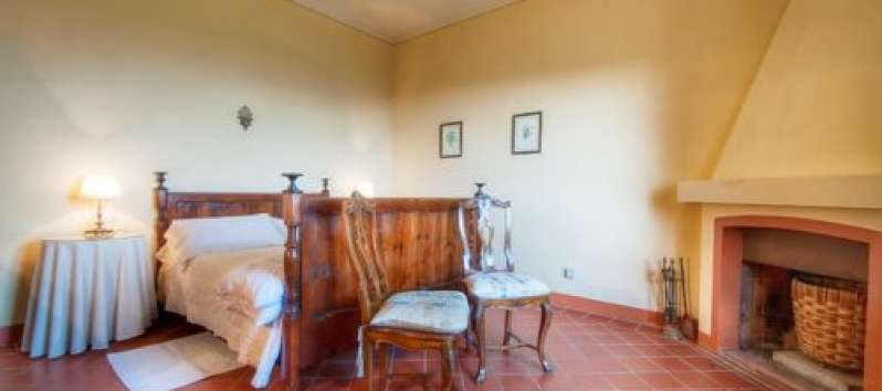 Villa Agreste double room with antiches and fireplace