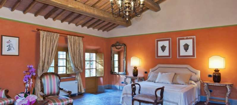 Villa Carlotta master bedroom luxuriously furnished